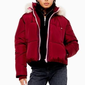 NWT Topshop Hooded Puffer Jacket